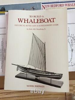 Model Shipways 2033 New Bedford Whale Boat Wood Model Ship Kit withWhaleboat Book