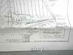 Model Shipways Willie Bennett Chesapeake Bay Skipjack Vintage Wood Boat Model