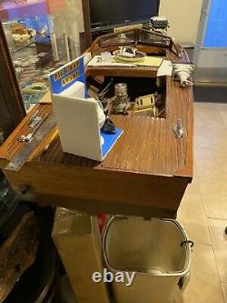Model Wood boat Double Hull Over 50 Inches Long One Of A Kind Rare Functional