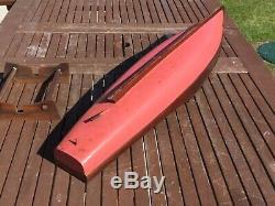 Model boat. Aquila wooden hull