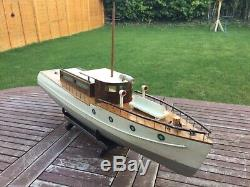 Model boat. Bassett Lowke motor yacht pre war