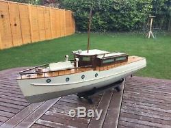 Model boat. Bassett Lowke motor yacht pre war c1930