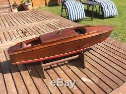 Model boat. Pre war wood construction