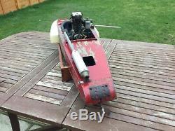 Model boat. Tether hydroplane rare Edgar T Westbury kittiwake major 30cc engine