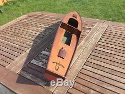 Model boat hull, lovely vintage wood
