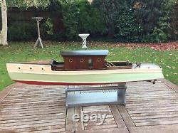 Model boat pre war planked hull electric motor
