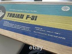 New In Box DUMAS #1205 TROJAN F-31 WOOD BOAT MODEL KIT