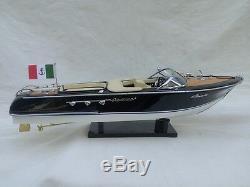 New Riva Aquarama 21 3 Options Wood Model Boat L50 Handmade Italian Speed Boat