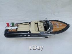 New Riva Aquarama 21 Cream Seat Quality Wood Model Boat L50 Christmas Gift