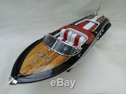 New Riva Aquarama 21 White-Red Quality Wood Model Boat L50 Christmas Gift