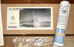 Nib Bluejacket Ship Crafters Four Piper 310' Destroyer Boat Wood Model Kit