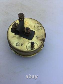Nos Chris Craft Old Wood Boat Stewart Warner Gasoline Gauge Hot Rod Trog Scta
