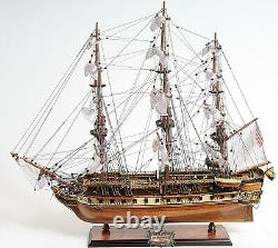 Old Ironsides WOOD SHIP 29 Display Model USS Constitution Collectible Warship