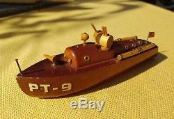 Original WWII Milton Bradley PT-9 US Navy Torpedo Boat Wood Model Elco Powerboat