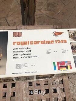 Panart Royale Caroline 1749 Scale 147 Wood Ship Unbuilt Model Italy HTF