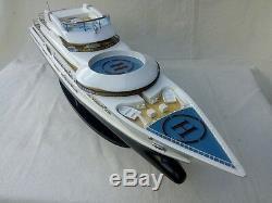 Pelorus 34 Modern Yacht L87 Handmade Wood Model Boat Model Pelorus Yacht
