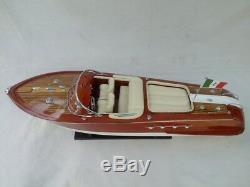 Quality Riva Aquarama 26 Wood Model Boat L60 Cream Seat Free Shipping
