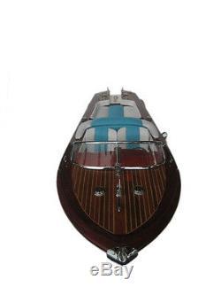 Quality Wooden Speed Boat 20 Wood Model Boat L50 Handmade Italian Speed Boat