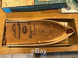 RARE 1959 Ideal Higgins 17 #1551 MAHOGANY POWER BOAT WOOD MODEL KIT Complete