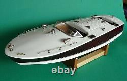 RARE Vintage Japan Ito 18 Wood Model Boat Twin Motors, Refurbished, Stunning