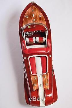 RIVA AQUARAMA BOAT 21 (53cm) Wood Model USA return