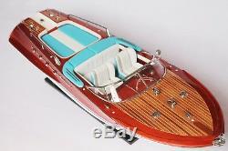 RIVA AQUARAMA LAMBORGHINI BOAT 28 (70 cm) Wood Model