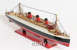 RMS Queen Mary Cruise Ship 40 Ocean Liner Wood Model Boat Assembled