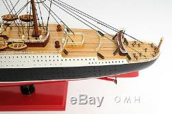 RMS Queen Mary Cruise Ship 40 Ocean Liner Wood Model Boat With Case Assembled