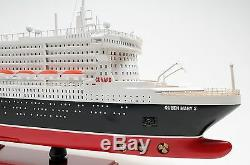 RMS Queen Mary II Cruise Ship Ocean Liner 40 Wood Model Boat Assembled