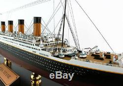 RMS Titanic Cruise Ship Ocean Liner 30.1/4 Wood Model Boat Assembled