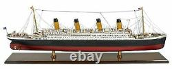 RMS Titanic Cruise Ship Ocean Liner 36 Wood Model Boat By Authentic Models
