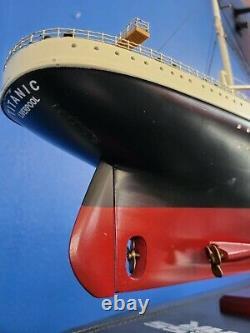 RMS Titanic Model Ship Boat Ocean Liner 40 101cm Wooden White Star Line Cruise
