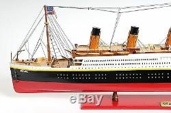 RMS Titanic Ocean Liner Cruise Ship Built 56 XLarge Wooden Model Boat Assembled