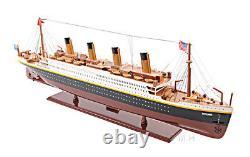 RMS Titanic Ocean Liner Wooden Model 40 White Star Line Cruise Ship Boat New