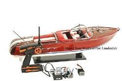 RTR Riva Aquarama model boat. FREE DOMESTIC SHIPPING