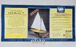Racing Sloop DARK HARBOR 17 model kit by BlueJacket ShipCrafters 27 in long