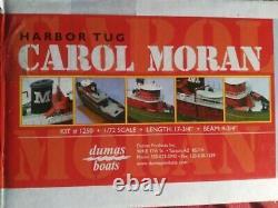 Rare Dumas #1250 Carol Moran Harbor Tug Boat 1/8th Scale Model RC 17 3/4 Length
