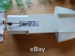 Rare Vintage Gas Model Hydroplane Tether Wood Boat