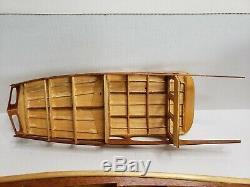 Rare Vintage Sterling Harco 40' Deluxe Cabin Cruiser Wood Model Boat Kit 1960