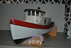 Rc Victory Tug Built Wood Model Boat By Dumas