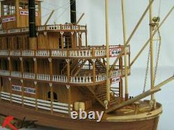 RealTS Scale wood boat 1/100 classic wooden steam-ship USS Mississippi model kit
