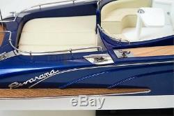 RivaRama Wooden Model Boat, 100% Solid Wood Plank on Frame, RC-ready