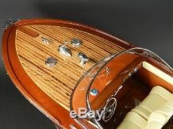 Riva Aquarama 20 Wood Model Boat L 53 cm Handmade Italian Speed Boat Handcraft