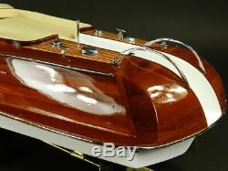 Riva Aquarama 26 Wood Model Boat L 67 cm Handmade Italian Speed Boat Handcraft