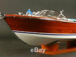Riva Aquarama 34 Wood Model Boat L 87 cm Handmade Italian Speed Boat Handcraft