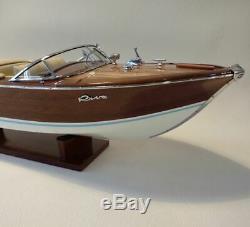 Riva Aquarama 34 Wood Model Boat L 90 cm Handmade Italian Speed Boat