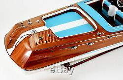 Riva Aquarama Handmade Wooden Classic Boat Model 48 RC Ready