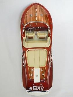 Riva Aquarama LAMBORGHINI 26 (66 cm) Wood Boat Model