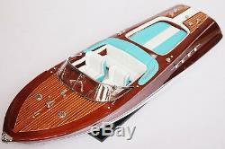 Riva Aquarama LAMBORGHINI 28 (70cm) Wood Boat Model