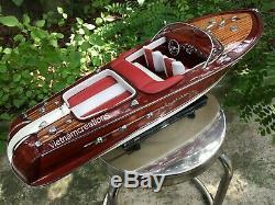 Riva Aquarama Speed Boat 20 Wood Wooden Handmade Italian Model Speed Boat